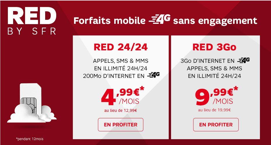 bon plan forfait smartphone illimit red 3 go 4g 9 99 et version 200mo 4 99 plan te num rique. Black Bedroom Furniture Sets. Home Design Ideas